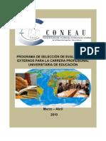 Programa de SelecciÓn de Evaluadores Externos Para