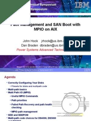 SAN boot MPIO SDD and SDDPCM | Booting | Load Balancing