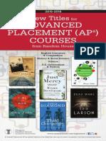 Random House 2015-2016 Advanced Placement (AP®) Catalog