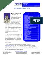 2015 Major Public Acts