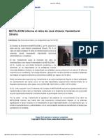 15 3 2010 METALDOM Informa El Retiro de José Antonio Vanderhorst Silverio