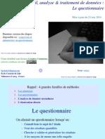 Methodologie Conception Et Administration de Questionnaires