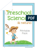Preschool Science and Nature Printable Pack