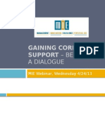 Gaining Corporate Support Beginning a Dialogue