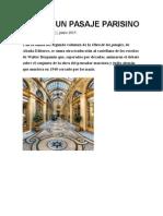 2015 Cita en Un Pasaje Parisino