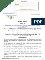 Decreto 19 de 2012 Antitramites