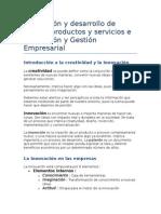 Innovación y desarrollo de productos y servicios