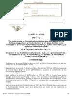 Decreto 101 de 2010 Territorializacion de La Inversión