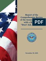 Department of Defense 2010 DADT Report