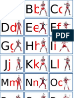 Flashcards ABC Ultraman