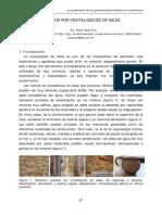 Daños Causados Por Cristalizacion de Sales en Construcciones y Objetos