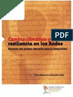 Cambio Climatico y Resiliencia en Los Andes
