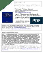 """Meadowcroft & Ruger """"Hayek, Friedman, and Buchanan"""