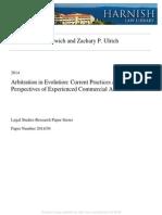 Arbitration in Evolution