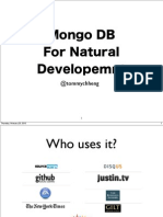 MongoDB For Natural Development