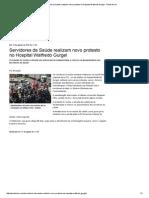 Servidores Da Saúde Realizam Novo Protesto No Hospital Walfredo Gurgel - Portal No Ar
