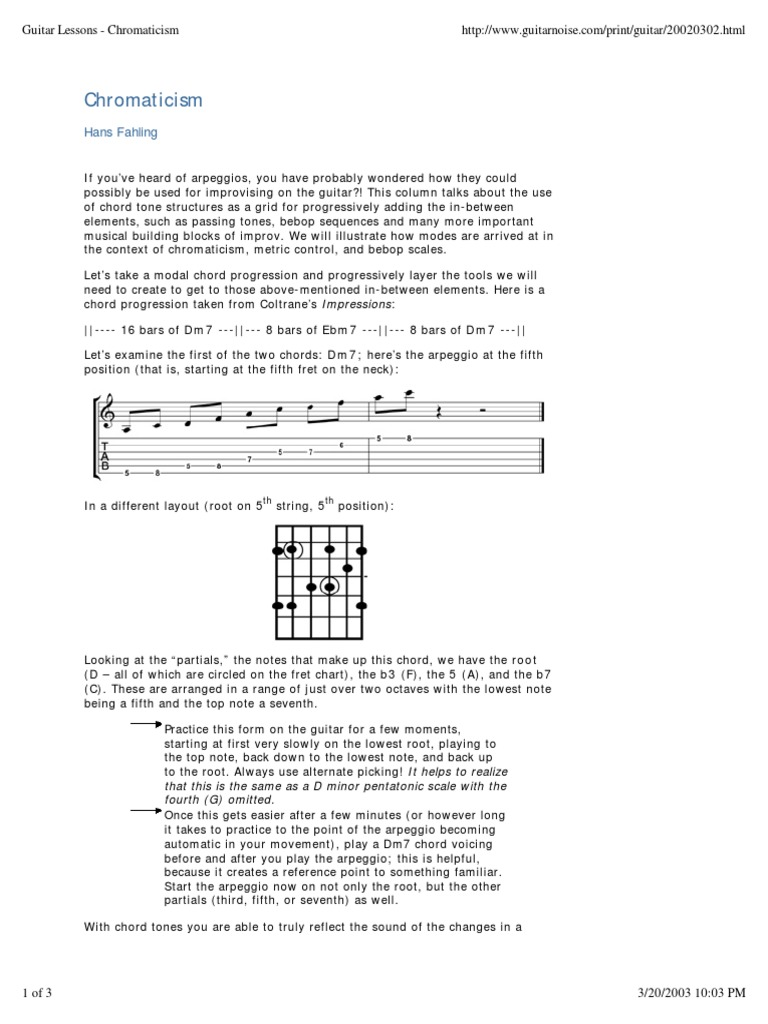 Guitar Lessons Chromaticismpdf Chord Music Guitars