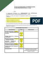 Cronograma Actividades Académicas Curso Epistemologia 2 2015