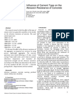 Influence of Cement Type on the Abrasion Resistance of Concrete
