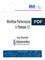 Workflow Performance Tuning in Release 12 2