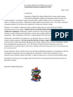 english department summer reading 2015 revised