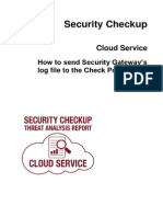 CP Security Checkup Cloud Service AdminGuide