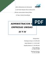 Administracion Trabajo III Y IV