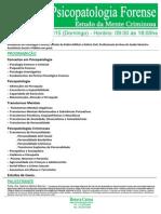 Curso de Psicopatologia - 18 de Outubro - Brasilia