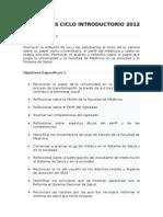 Objetivos Ciclo Introductorio 2012