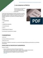 Boliviaimpuestos.com-Requisitos Para Crear Una Empresa en Bolivia