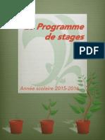 Le Programme de stages - Parti vert du Québec (année scolaire 2015 - 2016)