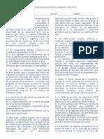 Evaluacion Nivelacion de Economia y Politica