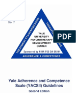 Yale Adherence and Competence Scale II Guidelines