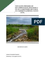 Identificación primaria de afectaciones ambientales asociadas a la operación de la refinería Héctor R. Sosa Lara, en Cadereyta Jiménez, Nuevo Léon.