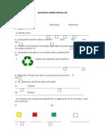 Encuesta Sobre Reciclaje
