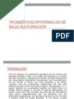 Yac. Epitermales de Baja Sulfuración