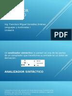Analizador Sintáctico Unidad 6