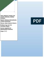 Sistemas Lineales y No Lineales y (Entradas y Salidas) Analogas