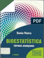 Bioestatística Aplicada - Sônia Vieira