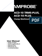 Acd 10 Trms Plus Acd 10 Plus Clamp Multimeters Manual