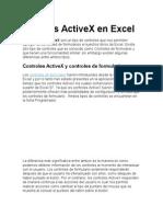 Ontroles ActiveX en Excel