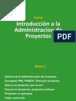 Administración de Proyectos - Parte 1