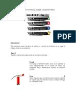 Práctica Para El Uso de Los Extintores