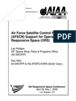 Air Force Satellite Control Network (AFSCN) Support for Operational Responsive Space (ORS)