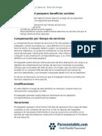 Caso Practico Régimen Laboral Pesquero Beneficios Sociales