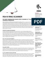 Rs419 Ring Scanner Spec Sheet
