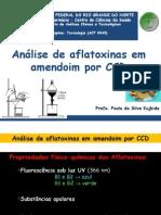 Análise de Aflatoxinas Paula K. 2014