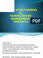 School Effectiveness & School-based Management