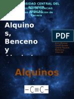 Alquinos, Benceno y Alcoholes