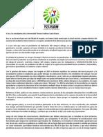 Carta a Los y Las Estudiantes de La Universidad Técnica Federico Santa María